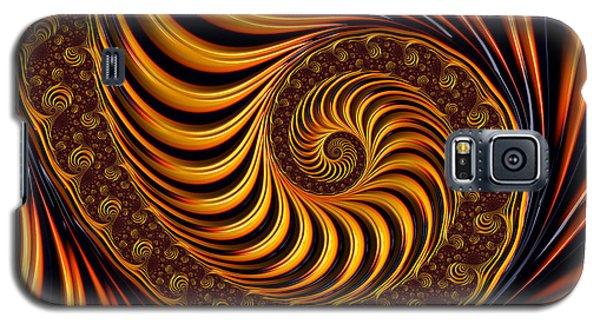 Beautiful Golden Fractal Spiral Artwork  Galaxy S5 Case