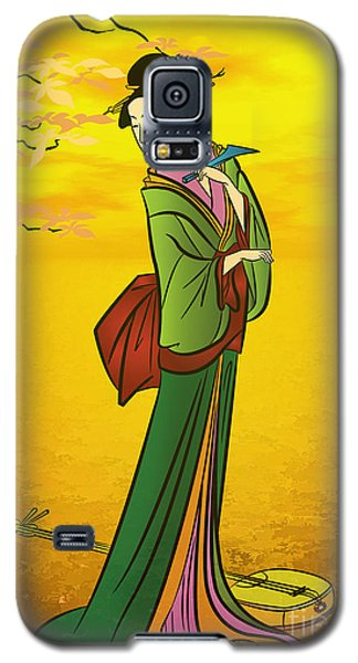 Beautiful Japanese Girl Galaxy S5 Case by Andrzej Szczerski