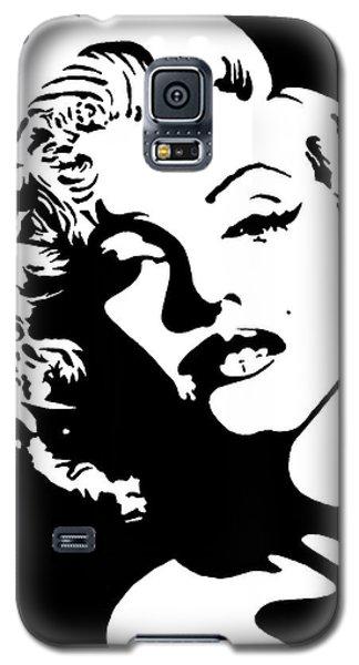 Beautiful Marilyn Monroe Original Acrylic Painting Galaxy S5 Case by Georgeta  Blanaru