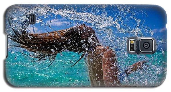 Beautiful Model Splashing Galaxy S5 Case