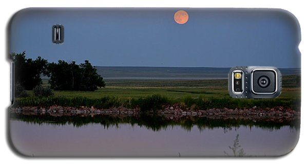 Galaxy S5 Case featuring the photograph Beautiful Moon Over Kinney Lake by Clarice  Lakota