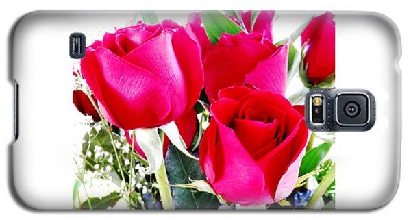 Beautiful Neon Red Roses Galaxy S5 Case by Belinda Lee