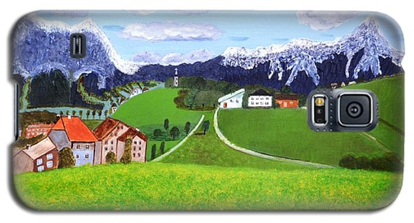 Galaxy S5 Case featuring the painting Beautiful Norway by Magdalena Frohnsdorff