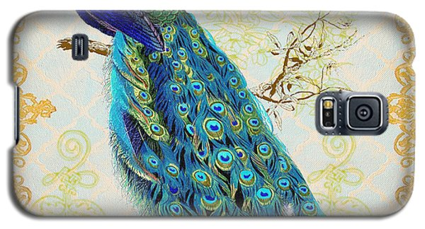 Beautiful Peacock-b Galaxy S5 Case by Jean Plout