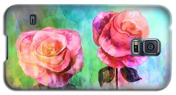Beautiful Pink Roses Galaxy S5 Case by Annie Zeno