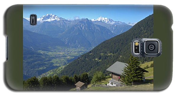 Beautiful View From Riederalp - Swiss Alps Galaxy S5 Case by Matthias Hauser