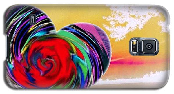 Galaxy S5 Case featuring the digital art Beautiful Views Exist by Catherine Lott