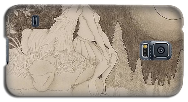 Beauty And The Beast Howling At The Moon 2 Galaxy S5 Case