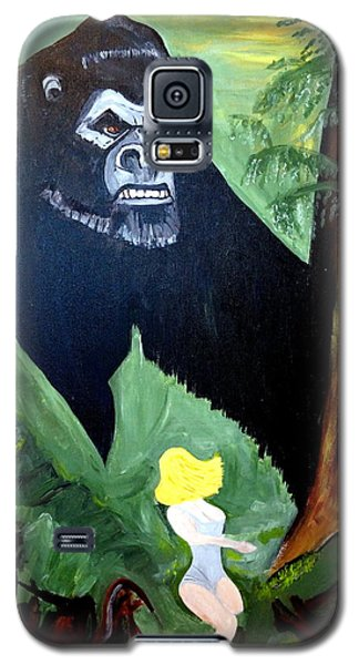 Galaxy S5 Case featuring the painting Beauty And The Beast by Nora Shepley