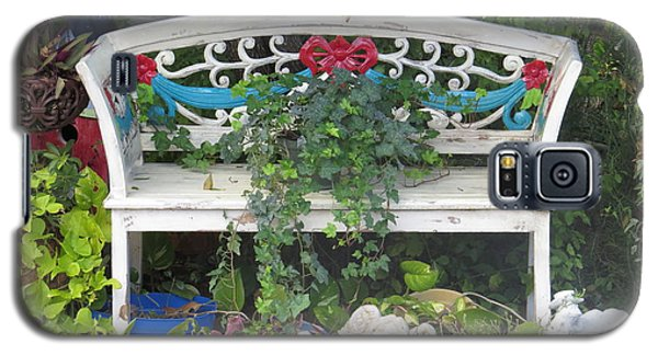 Galaxy S5 Case featuring the photograph Beauty And The Bench by Ella Kaye Dickey