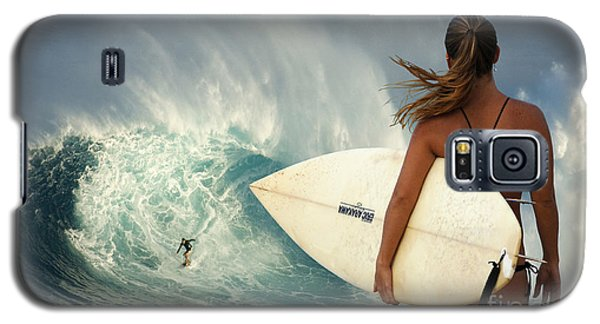 Surfer Girl Meets Jaws Galaxy S5 Case