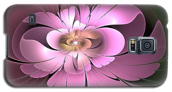 Galaxy S5 Case featuring the digital art Beauty Queen Of Flowers by Svetlana Nikolova