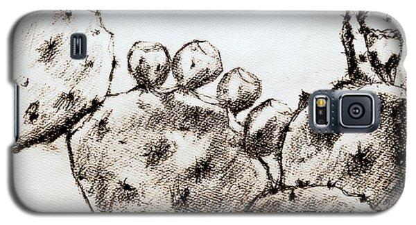 Beavertail Cactus Charcoal Galaxy S5 Case by Antonia Citrino