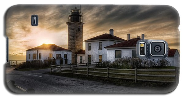 Beavertail Lighthouse Sunset Galaxy S5 Case by Joan Carroll