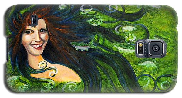 Galaxy S5 Case featuring the painting Lady Of The Lake by Denise Deiloh