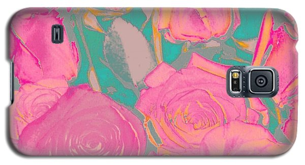 Galaxy S5 Case featuring the photograph Bed Of Roses I by Shirley Moravec