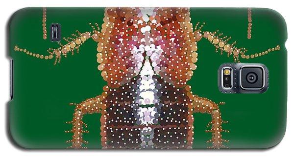 Galaxy S5 Case featuring the digital art Bedazzled Roach II by R  Allen Swezey