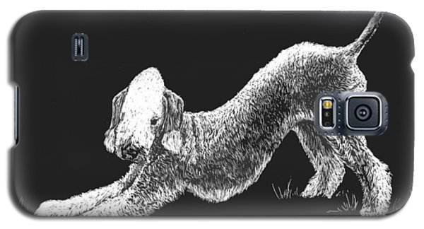 Galaxy S5 Case featuring the drawing Bedlington Terrier by Rachel Hames