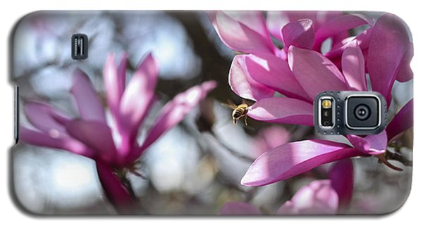 Galaxy S5 Case featuring the photograph Bee In Flight by Amber Kresge