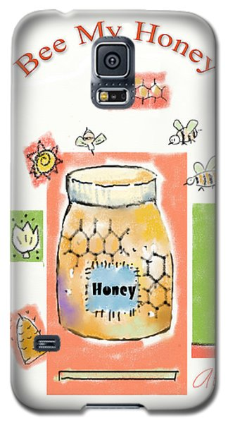 Galaxy S5 Case featuring the digital art Bee My Honey by Arline Wagner