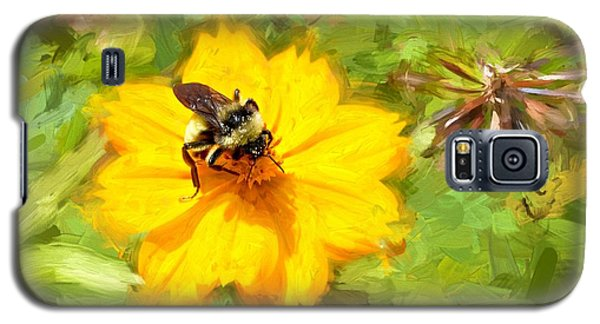 Bee On Flower Painting Galaxy S5 Case