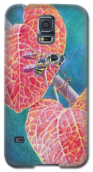 Bee On Leaf Galaxy S5 Case by Mariarosa Rockefeller