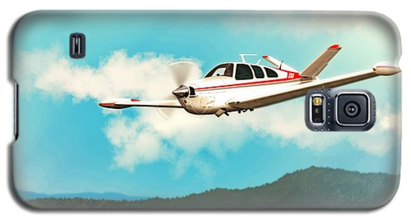 Beechcraft Bonanza V Tail Red Galaxy S5 Case by John Wills