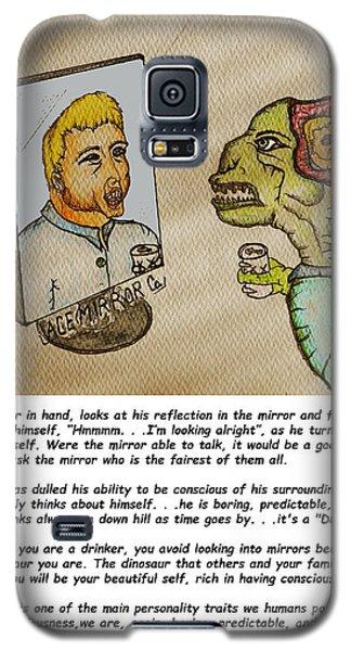 Beer Drinker In The Mirror Galaxy S5 Case
