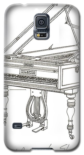 Beethoven's Broadwood Grand  Piano Galaxy S5 Case by Ira Shander