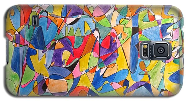 Galaxy S5 Case featuring the painting Beethoven's Symphony Number Five by Esther Newman-Cohen