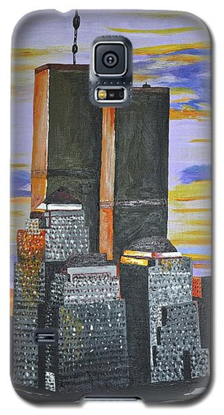 Galaxy S5 Case featuring the painting Before The Fall by Donna Blossom