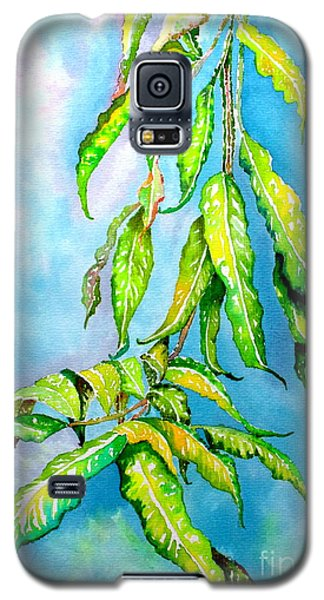 Galaxy S5 Case featuring the painting Before The Monsoon Rains Fall by Julie  Hoyle