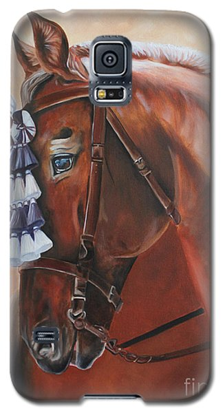 Galaxy S5 Case featuring the painting Before The Show by Debbie Hart