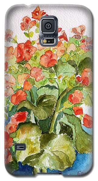Galaxy S5 Case featuring the painting Begonias Still Life by Geeta Biswas
