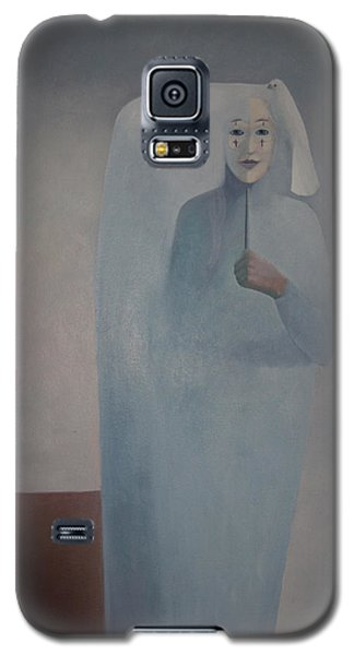 Galaxy S5 Case featuring the painting Behind Me -  Is White Lady by Tone Aanderaa
