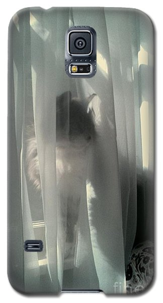 Galaxy S5 Case featuring the photograph Behind The Curtain by Jacqueline McReynolds