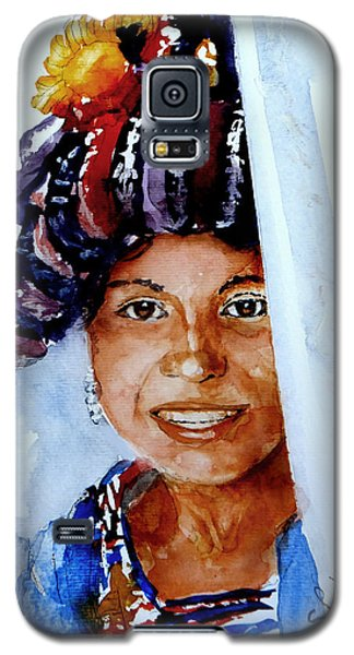 Galaxy S5 Case featuring the painting Behind The Curtain by Steven Ponsford