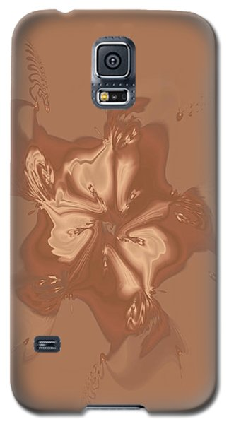 Beige Satin Morning Glory Galaxy S5 Case by Judi Suni Hall