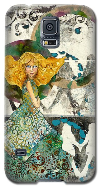 Galaxy S5 Case featuring the mixed media Being A Girl by P Maure Bausch