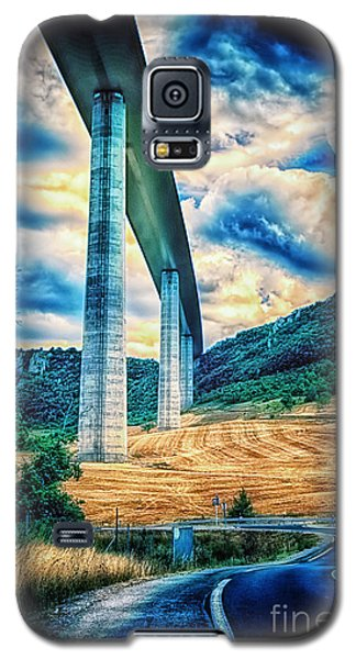 Galaxy S5 Case featuring the photograph Beleau Millau Viaduct France by Jack Torcello