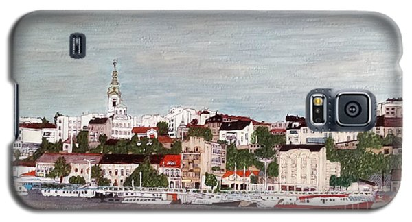 Galaxy S5 Case featuring the painting Belgrade Serbia by Jasna Gopic