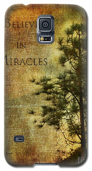 Believe In Miracles - With Text			 Galaxy S5 Case