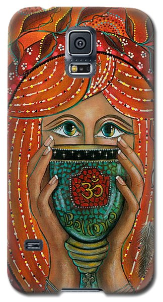Galaxy S5 Case featuring the painting OM by Deborha Kerr