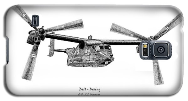 Galaxy S5 Case featuring the drawing Bell-boeing Cv-22b Osprey by Arthur Eggers