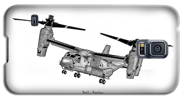 Galaxy S5 Case featuring the drawing Bell-boeing Mv-22b Osprey by Arthur Eggers