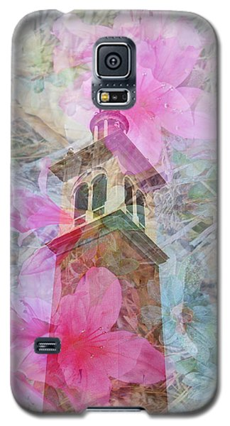 Bell Tower Wrapped In Spring Galaxy S5 Case