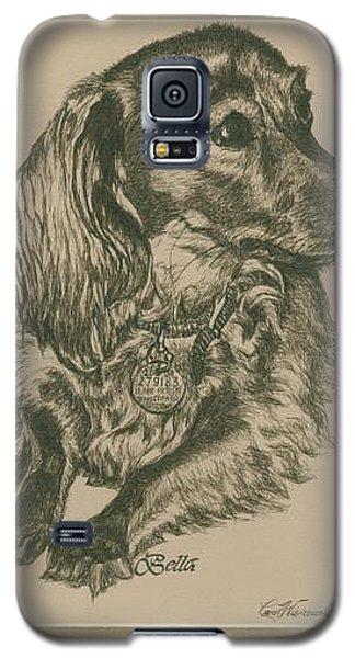Galaxy S5 Case featuring the drawing Bella by Carol Wisniewski