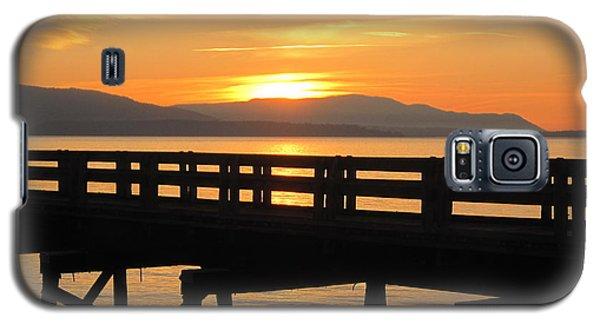 Galaxy S5 Case featuring the photograph Bellingham Bay Boardwalk by Karen Molenaar Terrell