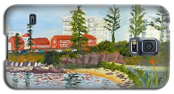 Galaxy S5 Case featuring the painting Belmore Basin From The North Sea Wall by Pamela  Meredith
