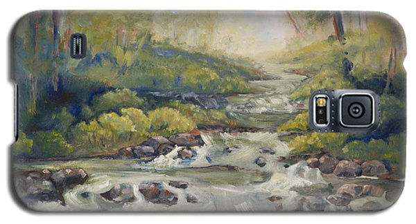 Below Amicalola Falls Painting Galaxy S5 Case by Sally Simon